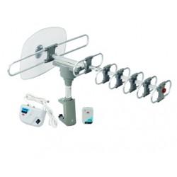 ANT-105 ANTENA EXTERIOR QFX ROTATIVA HD/DTV/UHF/VHF/FM