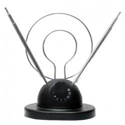 ANT-22 ANTENA DE CONEJO CON BASE HD/DTV/UHF/VHF/FM