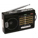 R-39E RADIO QFX RECARGABLE CON LAMPARA AM/FM/SW1-SW7 10 BANDAS