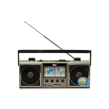J-114U RADIO QFX USB AM/FM/SW1-9 11 BANDAS