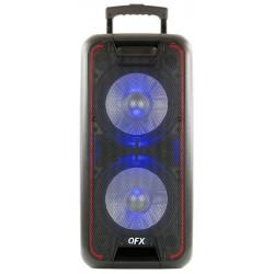 PBX-100 BAFLE AMPLIFICADO QFX 2 X 10PULGADAS TWIN 6000W, RECARGABLE, BLUETOOTH, ECUALIZADOR 5 BANDAS