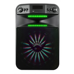 PBX-115 BAFLE AMPLIFICADO QFX 15PULGADAS W SMART, MICROFONO,RECARGABLE, BLUETOOTH USB/SD/AUX/FM