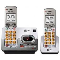 EL52203 TELEFONO INALAMBRICO AT&T DOBLE CON CONTESTADORA, IDENTIFICADOR DE LLAMADAS Y ALTAVOZ, GRIS