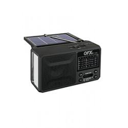 R-37 RADIO QFX AZUL, NEGO O ROJO, SOLAR,  RECARGABLE, LAMPARA, BLUETOOTH, AM/FM/SW1 6 BANDAS, USB